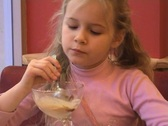 Girl in the Cafe Stock Footage
