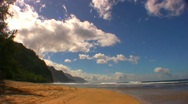 Stock Video Footage of  Kauai Hawaii Beach Timelapse