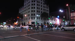 Hollywood Highland Time lapse Stock Footage