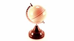 rotating globe isolated on white - stock footage