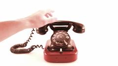 Retro puhelin soi valkoinen Arkistovideo