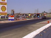 Motorsports, drag race, Top Alcohol Dragsters race at NHRA facility, loud  Stock Footage