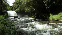 Andean river and waterfall Stock Footage