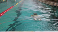 Child in a swimming pool Stock Footage
