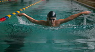 Stock Video Footage of Butterfly Stroke Swimmer