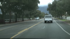 Point of view time lapse driving in downtown Ojai, California. Stock Footage