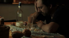 depression man - stock footage
