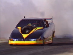 motorsports, drag racing, Jet car smoke and flame show, loud and fast! - stock footage