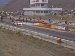 Motorsports, NHRA drag racing, sportsman class race Stock Footage