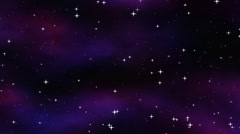 Starfield in space Stock Footage