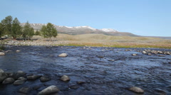 Rapid mountain river in Mongolian Altai ( Dayan ) Stock Footage