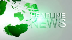 Headline News Animation Stock Footage