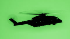 Helicopter In Night Vision HD Stock Footage