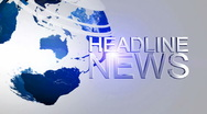 Stock Video Footage of Headline News Animation