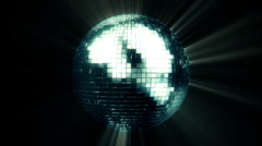 Mirror Ball In And Out FULL HD Stock Footage