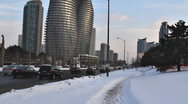 Hurontario Street in Downtown Mississauga Stock Footage