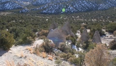 Tent Rock  1210 Stock Footage