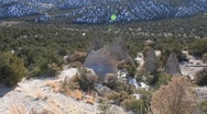 Stock Video Footage of Tent Rock  1210