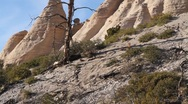 Stock Video Footage of Tent Rock  1207