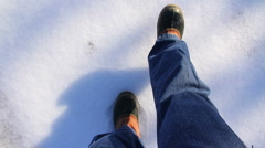 Walking on Ice 2003 Stock Footage