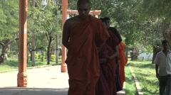 Monks in Anuradhapura, Sri Lanka Stock Footage