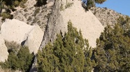 Stock Video Footage of Tent Rock 1170