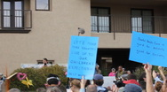 Stock Video Footage of Congresswoman Gabrielle Giffords Tucson office - Peace Walk ending - 16