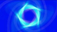 Blue laser atomic molecular nuclear flower petal pistil bloom. Stock Footage