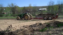 Farming manure spreader Stock Footage