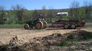 Stock Video Footage of farming manure spreader
