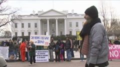 Muslim at White House Stock Footage
