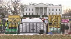 Anti-War vigil at White House Stock Footage
