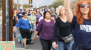 Stock Video Footage of Congresswoman Gabrielle Giffords - A Walk for Peace - 6