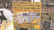 Stock Video Footage of Anti-War vigil at White House