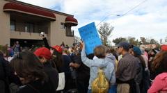 Congresswoman Gabrielle Giffords Tucson office - Peace Walk ending - 4 - stock footage