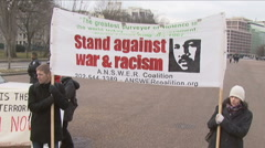 Anti-War/Martin Luther King Sign Stock Footage