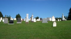 driving by graveyard - stock footage