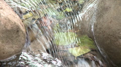Loopable close up of a waterfall in Wheeler Springs above Ojai, California. Stock Footage