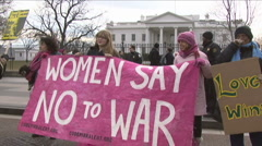 Code Pink protest at White House Stock Footage