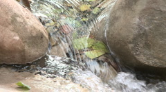 Loopable close up of waterfall in Wheeler Springs above Ojai, California. Stock Footage