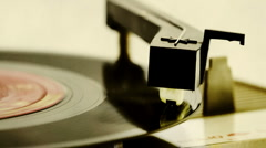 Retro record player  Stock Footage