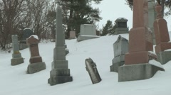 Cemetery 18 - stock footage