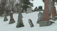 Cemetery 18 Stock Footage