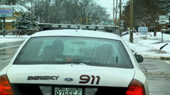 Following police car - stock footage