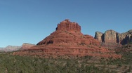 Sedona Bell Rock to Courthouse Butte pan Stock Footage