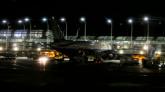 Chicago O'hare airport terminal at night - stock footage
