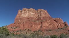 Courthouse Butte Sedona tilt down Stock Footage