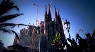 Sagrada Familia Wide Dolly Stock Footage