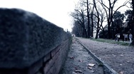 Cyclist in Lucca Stock Footage