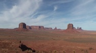 Monument Valley wide tilt down Stock Footage